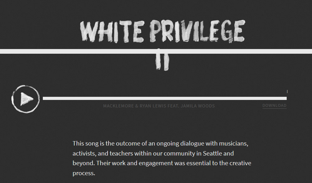 Song Lyrics: White Privilege II - RUL2C?